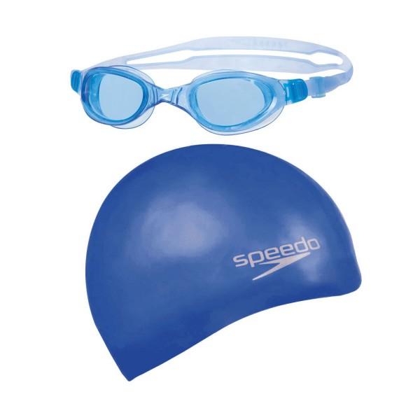 Speedo Set Schwimmhaube und Brille